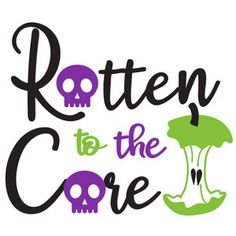 Silhouette Design Store: Rotten To The Core Cricut Fonts, Cricut Vinyl, Silhouette Cameo Projects, Silhouette Design, Rotten To The Core, Halloween Signs, Cricut Creations, Vinyl Projects, Vinyl Designs