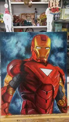 Minha 2ª pintura em tela..