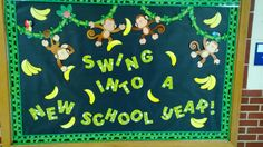 my 1st elementary bulletin board.  Welcome back to school.                                                                                                                                                      More