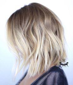 Blonde Choppy Lob