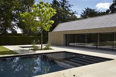 Outdoor pool with separate spa pool and inbuilt children's pool