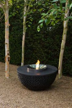 Dark Planet fire table - this would make a statement on the patio