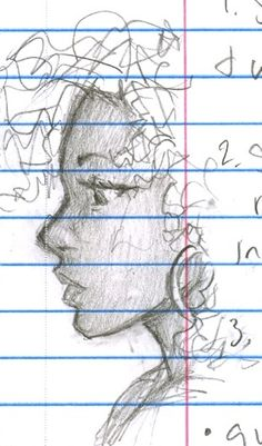 Can we just take a moment to appreciate that someone drew Hazel on what looks like schoolwork.