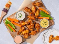 Blue Cheese Dressing, Ranch Dressing, Chicken Wings Spicy, Tandoori Chicken, Cayenne Pepper Sauce, Pure Maple Syrup, Buffalo Wings, Air Fryer Recipes