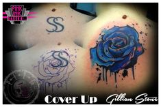 Rose Tattoo Cover Up by pinkinktattoostudio on DeviantArt Rose Tattoo Cover Up, Divorce Papers, Watercolor Tattoo, Deviantart, Tattoos, Pink, Tatuajes, Tattoo, Pink Hair