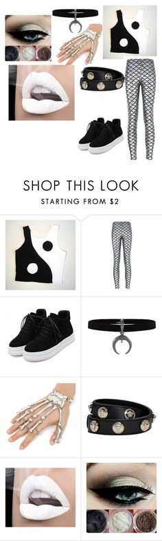 """black and white"" by rachelfox985 on Polyvore featuring Versace"
