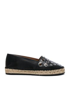 GIVENCHY Studded Leather Flat Espadrilles. #givenchy #shoes #