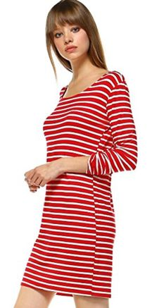 striped-three-quarter-tabbed-sleeve-midi-t-shirt-dress-elain-j