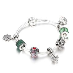 Forever Young Charm Bracelet 925 Sterling Silver