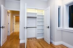 built-in shelving in closet (Wm. H. Fry Construction Company)
