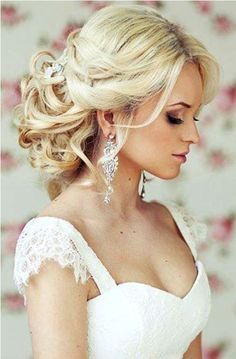 half up half down wedding hairstyles with veil