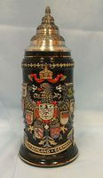 ... German . Antique German Lithophane Occupational Beer Stein Lidded