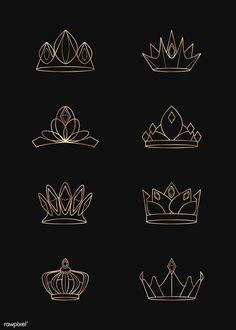 Small Crown Tattoo, Crown Tattoo Design, Small Couple Tattoos, Small Tattoos, Tattoos For Guys, Crown Tattoos, Garter Tattoos, Rosary Tattoos, Bracelet Tattoos