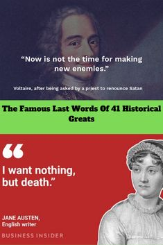 The #Famous Last #Words Of 41 #Historical #Greats