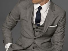 grey three piece suit....... I don't care if its 2 or 3 piece but I REALLY want my hubby to wear a grey suit!!!!
