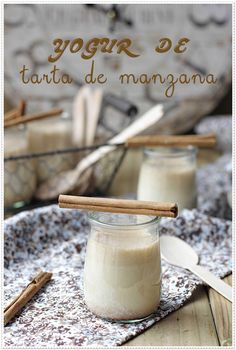 Apple Cake Yogurt (in Spanish) Diabetic Recipes, Vegan Recipes, Apple Pie Cake, Sugar Free, Sweet Tooth, Brunch, Milk, Favorite Recipes, Sweets