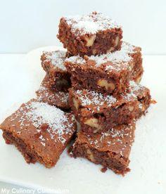 My Culinary Curriculum: Brownies chocolat au lait, noix et noix de coco (M...