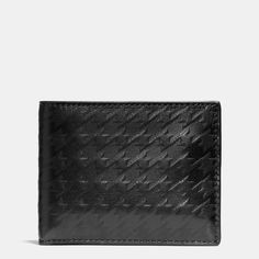 Houndstooth Slim Billfold ID Wallet in Leather Cheap Coach Purse Handbags Coach Purses, Coach Bags, Cheap Coach, Purses And Handbags, Coach Handbags, Id Wallet, Coin Bag, Cheap Clothes, Luxury Bags