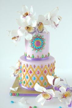 Orchid cake - Cake by Cookie Hound!