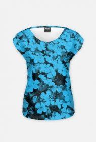 Koszulka kwiaty niebieska 2