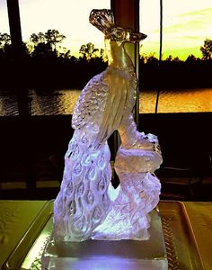 Full block, 3-D ice sculpture for a wedding reception. #icesculptures  #icesculpturesorlando