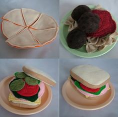 Quesidilla, spaghetti, sandwich, burger All Twisted Up: Felt and Felting