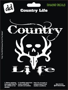 Country Life Design Decal Vinyl Sticker Car Truck Window by DiamondDecalz on Ebay