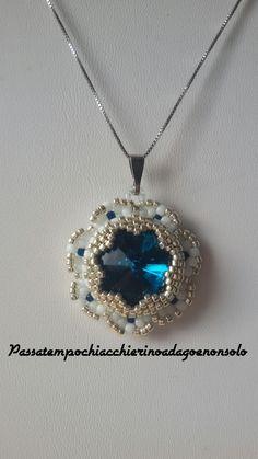 #peyote #perline #semplicissimo #handmade #beads #fattoioconlemiemanine #mipiace #rivoli #delicato #perlamamma #facebook #passatempochiacchierinoadagoenonsolo #hobby #stellina