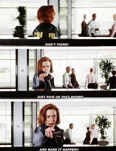 Love when scully lays down the law