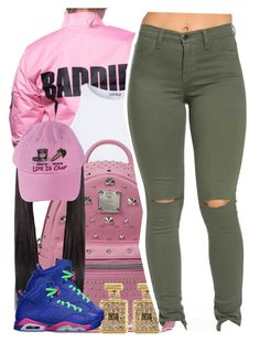"""I love that jacket omg "" by trillest-queen ❤ liked on Polyvore featuring Estradeur, MCM, River Island, Retrò, women's clothing, women's fashion, women, female, woman and misses"