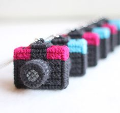 Soooo cute!!    Wool Camera Action Miniature Vintage Diana camera necklace by Naju, £21.99
