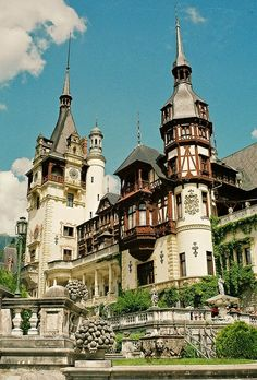 Sinaia, Romania. Salomae. I love this castle for Salomae, the colors and gothic style