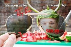 Watermelon Day // August 3 // #Outdoorsman RB3029 L2112 // www.ray-ban.com/aviator 21 Day Fix, Julia, Wrx Parts, Watermelon, Projects To Try, Challenges, Baby Shower, Aussies, Wainscoting