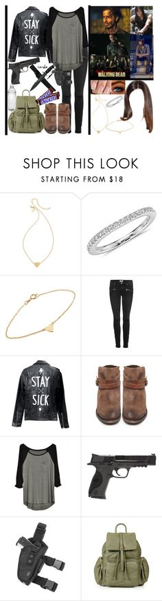"""the walking dead 💀"" by momochen95 ❤ liked on Polyvore featuring Kate Spade, Blue Nile, Jennifer Meyer Jewelry, Paige Denim, Deadwood, H by Hudson, Smith & Wesson and Topshop"