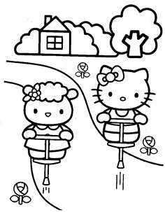 Hello Kitty Printable Colouring Sheet With