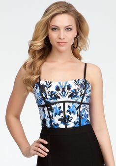 @bebe Luxury Vines Cami Bodysuit