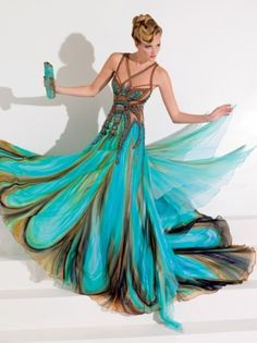 Peacock Dress, how Beautiful!