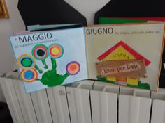 i mesi dell'anno... Special Needs, Projects For Kids, School Bags, Origami, Preschool, Diy Crafts, Teaching, Logos, Geography