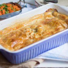 Pastel de pollo y champiñones. Chicken and mushroom pie. Receta británica con Thermomix
