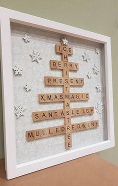 Christmas Box Frames, Christmas Fair Ideas, Christmas Shadow Boxes, Christmas Crafts To Make, Christmas Ornament Crafts, Homemade Christmas, Christmas Projects, Christmas Decor, Christmas Tree