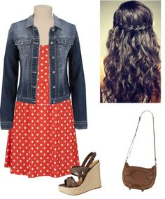 """""""Maurice's"""" by jacameco on Polyvore. Just a little bit longer on dress."""