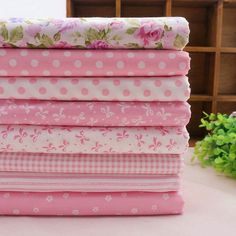 ~ Sweet Pink Series Quilting Fabric Fat by DaisysZakkaFabrics ...