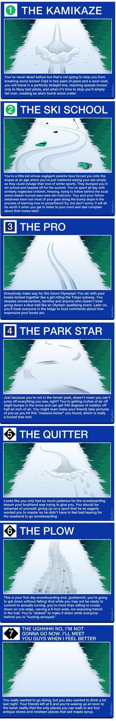 What Your Ski Track Says About You. shared by http://www.myskiholiday.com