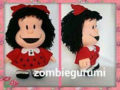 Mafalda amigurumi por zombiegurumi.  Www.facebook.com/zombiegurumi