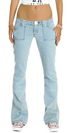 Bestyledberlin Damen Jeans Hosen, Bootcut Jeanshosen, Damen Hüftjeans j43e