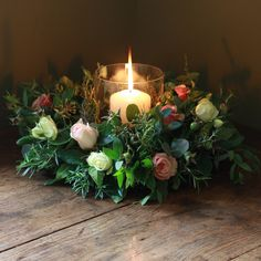 Christmas Antique Rose and Herb Table...perfect