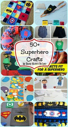 50+ Superhero Crafts- perfect for little boys
