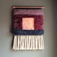 Geometric Lanscape n.3 / Handwoven Tapestry Wall by jujujust