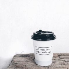 Let's make love, coffee, and magic coffee