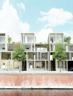 townhouses DMK | kortrijk - Projects -  CAAN Architecten / Gent  ~ Great pin! For Oahu architectural design visit http://ownerbuiltdesign.com